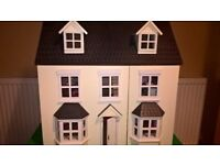 Large Wooden Dolls House with accessories - Beautiful!