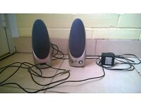 Proline desktop PC speakers, mains powered on/off and volume switch