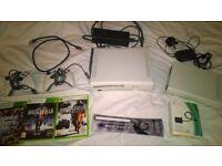 XBOX 360 + games, controllers, HDMI lead - Hard drive