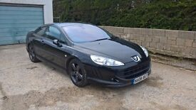 "Peugeot 407 Coupe BELLAGIO Sport BLACK 2.0 HDI 109000 MILES NAVI 18"" WHEELS SWAP"