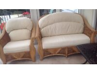 Conservatory wicker furniture set