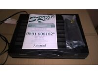 Amstrad SRD510 Analogue Satellite Receiver with Remote Control & User Manual