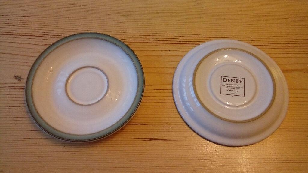 Denby regency green saucers