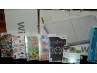 Nice Nintendo Wii setup with Wii Fit Accessories and games