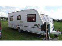 Bailey Pageant Fixed Bed 4 Berth Caravan with Two Awnings and more