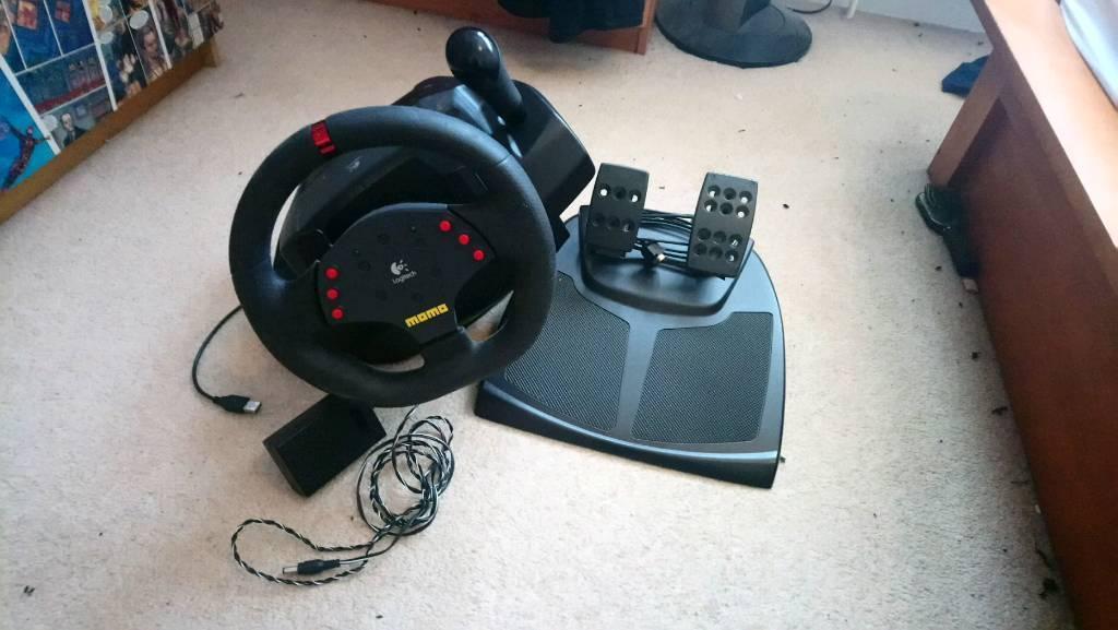 eb9fba091b6 Logitech MOMO Racing Wheel & Pedals for PC | in Stevenage ...