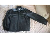 Mens Columbia Leather Jacket XL (brand new) black bomber style jacket XL never worn