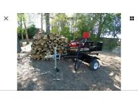 mobile log splitter with operator for hire