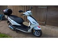 Piaggio FLY 4T4V 50cc Moped Scooter Only 76 miles