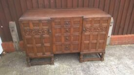 Classic 1950's Original Hardwood Sideboard and Drinks Cabinet-Good Condition