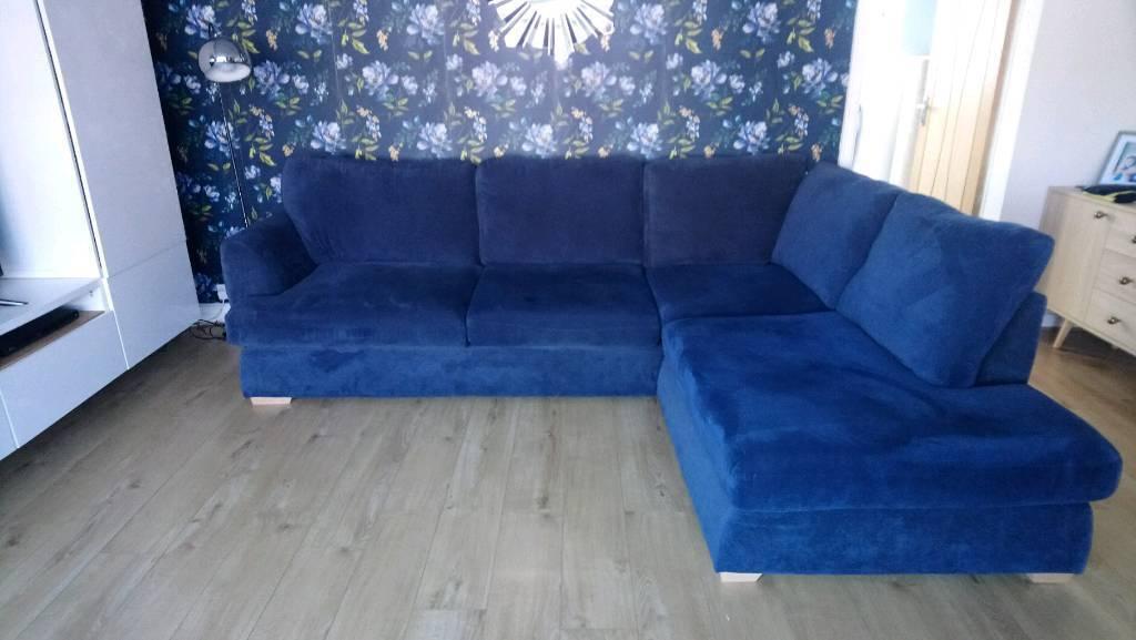 the latest 9fd4e ec203 DFS Navy Blue Corner Sofa | in Pendlebury, Manchester | Gumtree