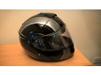 Shoes Neotec Motorbike helmet, black and silver Size XS