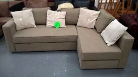 corner sofa bed in neutral colour very nice design