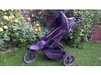 Phil & Teds inline sport buggy with double kit and carrycot/cocoon