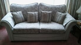 3+2 cloth fabric sofa set. Excellent condition. £150.