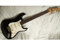 Black Fender Stratocaster Strat E Series electric guitar Made in Korea MIK 1987-88