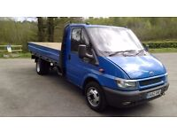 ford transit flat bed dropside not iveco sprinter ldv nice clean truck