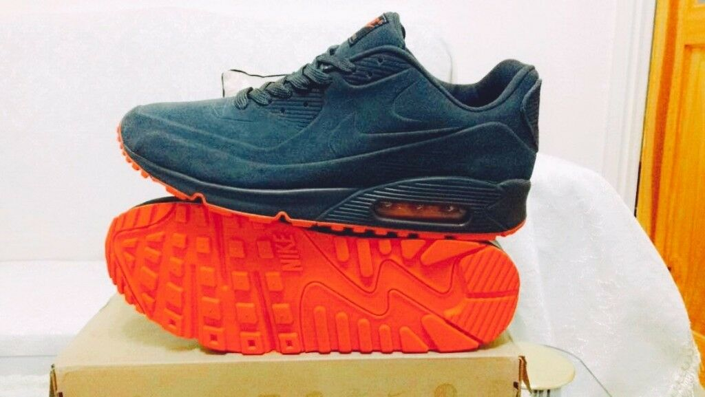 nike air max 90 hyperfuse suede grey red vt all sizes inc delivery paypal x | in Ladywood, West Midlands | Gumtree