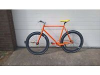 Orange, yellow & black single-gear bike bicycle for sale - in excellent condition