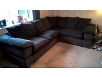 Inspire Corner Sofa AND Swivel Cuddle Chair With Foot Stool. Huge Saving. Almost Immaculate. Grey