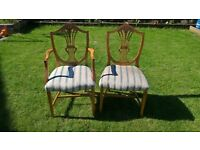 Wooden Dining Chairs free to collect - 7 good + 1 damaged