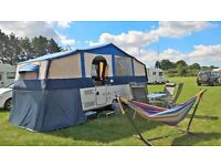 Conway Crusader 2005 6 berth Folding Camper with awning, hot water & toilet