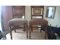 a pair of antique oak barley twist chairs need tlc fab project