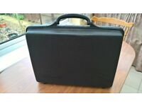 Man's sturdy black brief case in good condition, 12 x 38 x 50 cms & weighing 3 kilos. secure locks.