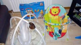 Bright starts baby bouncer, Vtech baby walker, bath seat and play mat for sale