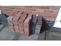Old floor tiles for sale red 6 x 6 x 1 and 6 x 6 x 7/8