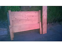 Oak bed very solid double