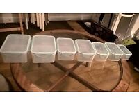large selection of lunch boxes