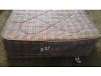 Folding guest bed and mattress