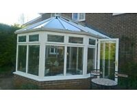 Anglian Victorian Style Conservatory, 4.3m x 3.6m, upvc double glazed including roof.