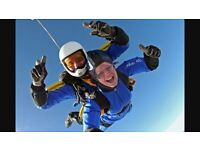 A 15,000 ft Tandem freefall parachute jump. A perfect way to raise money for charity.