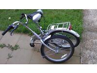 Silver folding bike like new