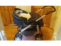 Grey Silvercross Travel System with Pram, Car Seat and Extras