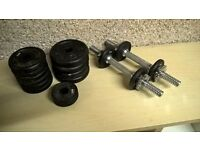 cast iron dumbell set