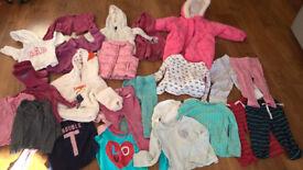 Large bundle of girls clothes (Babygap, Jojo Maman Bebe, John Lewis) age 1- 2, & a few items 2-3