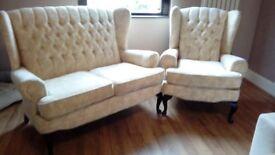 vintage wingback sofa set