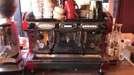 BFC Lira Group 2 Espresso Coffee Machine (red) + grinder + accessories