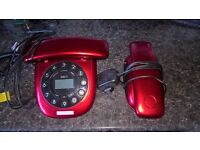 Home telephone with answer machine and second unit