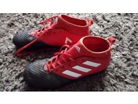 Adidas red and black sock boot size 5.5 hardly worn