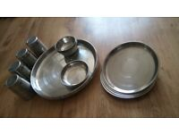 Stainless steel indian thali set(20 piece)