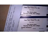 2 x Tickets for Peter Kay. Dance for Life ... LEEDS 6th May ...... £60 .....