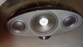 Kef 3001 center stage speaker(amazing sound and looks) +QED 25th Aniversary cable