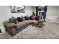 Grey DFS Corner sofa 2 yrs old