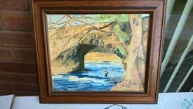 12x 14 oil painting signed
