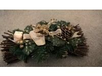 Elegant Christmas Table Decoration/Mantlepiece or Window Display