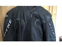 Spike leather motorbike jacket & Trousers. BARGAIN!
